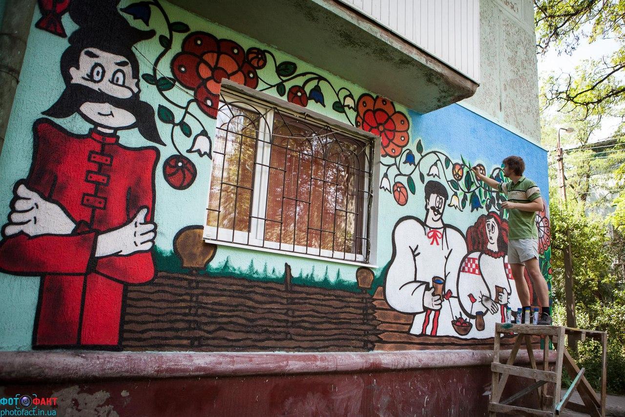 Креативная покраска стен фото его